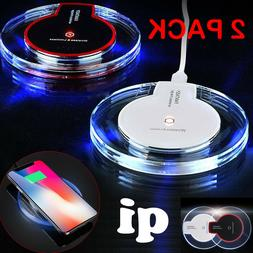 1 or 2Pack Qi Wireless Fast Charger Pad Samsung Galaxy Note