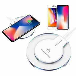 1 or 2Pack Qi Wireless Fast Charger Pad F Samsung Galaxy Not