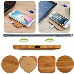 1 pc qi wireless charger slim wood