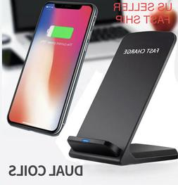 10W Fast QI Wireless Charger Charging Dock Station Stand Sam
