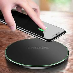 US 10W Qi Wireless Charger Metal Fast Charging Mat Pad For i