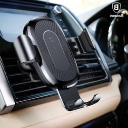 Baseus 10W Qi Wireless Charger Gravity Car Holder For iPhone