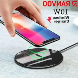 10W Wireless Charger Qi-Certified Wireless Charging Pad For