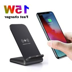 15W Qi Wireless Charger Fast Charging Dock Stand For Galaxy