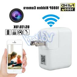 2.4G WiFi Full HD 1080P USB Wall Charger IP Motion Hidden Ca