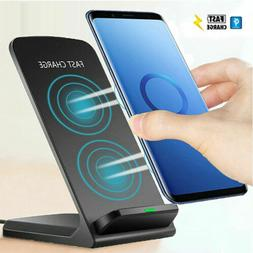 QI Wireless Fast Charger Charging Stand Dock For Samsung Gal