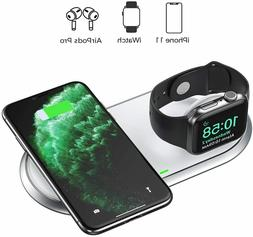 2 in 1 dual wireless charger mfi