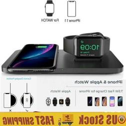 Seneo 2 in 1 Dual Wireless Charging Pad with iWatch Stand 7.