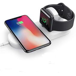 2 in 1 Wireless Charging Pad, ASONRL Smartphone & iWatch Fas