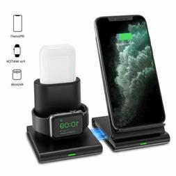 Seneo 2 in1 Qi Wireless Charger Fast Charging Dock Stand For