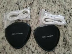 2 pk Wireless Charger Fast Qi Pad Android Samsung iPhone Yoo
