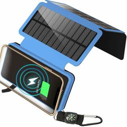 20000mAh Portable Solar Charger Qi Wireless Charger Power Ba