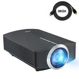 "DeepLee Mini Projector, 120"" Home Theater Video Projector wi"