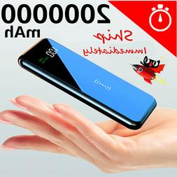 2019 Power Bank 900000mAh Qi Wireless Charger Portable Polym