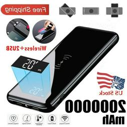 2020 Power Bank 2000000mAh Qi Wireless Charger Portable Poly