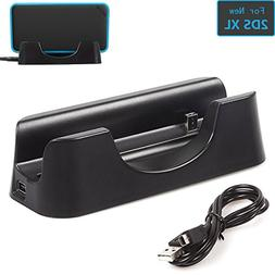 ADVcer New 2DS XL Charger Dock, USB Charging Stand and Verti