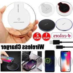 2Pack Qi Wireless Fast Charger Dock Charging Pad For iPhone
