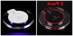 2pack Qi Wireless Fast Charger Pad Charging Dock iPhone XS M