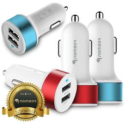 3.4A 17W 2 Port USB Fast Quick Car Charger for iPhone XS XR