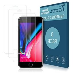Tocol for iPhone 7 Plus/8 Plus Screen Protector,  0.33mm Te