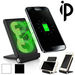 3 Coils Qi Wireless Charger Charging Pad Stand Foldable Hold