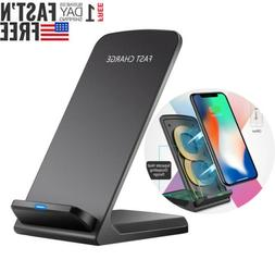 10W Wireless QI Fast Charger Charging Dock Stand For iPhone
