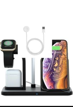 3 in 1 Wireless Charger Charging Stand Docking Station For i