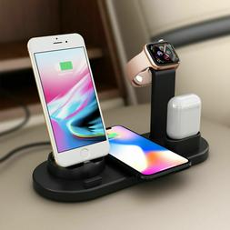 3 in 1 Wireless Charger Qi Station Dock Stand Apple Watch Ai