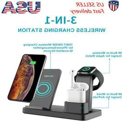 3 In 1 Wireless Charging Station Charger Stand Dock For iPho