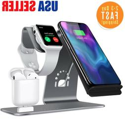3 in1 Wireless Charger Stand for iPhone X 8 Apple Watch Airp