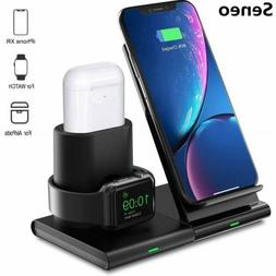 Seneo 3 in1 Qi Wireless Charger Fast Charging Dock Stand For