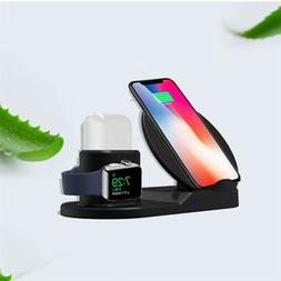3 In1 Wireless Charger Stand for Mobile Phone+AirPods+iWatch