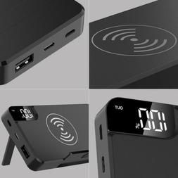 300000mAh Power Bank Qi Wireless Charging USB LCD Portable B