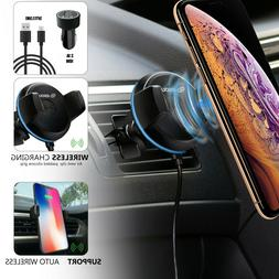 360° Qi Wireless Charger Car Mount Holder Stand 3 in 1 Set