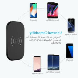 Qi 3 Coils Wireless Charger Stand Dock Pad For i phone X 8 P