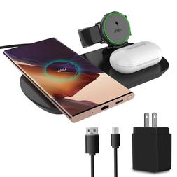 3IN1 Qi Wireless Charger Charging Pad Dock for Samsung Note