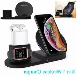 3in1 Wireless Charger Dock Stand Station Fast Charging For i