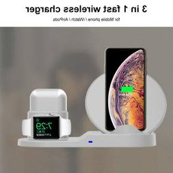 3in1 Wireless Fast Charger Station Charging Dock Stand For i