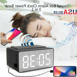 3in1 Wireless Phone Charger Bluetooth 5.0 Speaker LED Clock