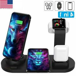 3in1Qi Fast Wireless Charging Dock Stand Station for Apple W
