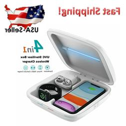 4 in1 Fast Wireless Charger UVC Sterilizing Sanitizer Box fo