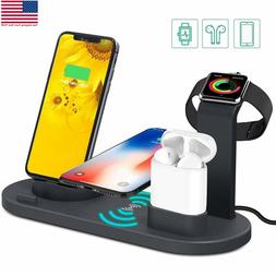 3in1 Fast Wireless Charging charger Dock Stand for iWatch Ai