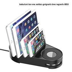 Vogek 5 Slots Charging Stand Dock Multi Device Organizer for