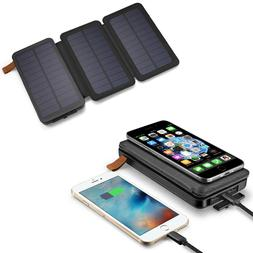 900000mAh Solar Panel Qi Wireless External Battery Charger P