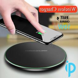 5W / 10W Qi Wireless Charger Pad Cell Phone Fast Charging Ma