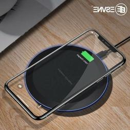 ESVNE 5W Qi Wireless Charger for iPhone X, Xs Max, XR, 8 Plu