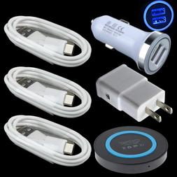 6 Charing Kits Charger Car Wall Wireless QI Pad Cables for S