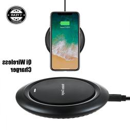 Black Qi Wireless Charger Pad For Samsung Galaxy S9 S9 Plus