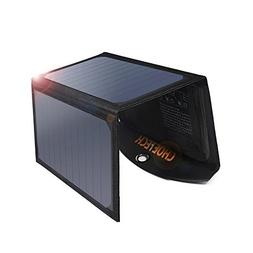 CHOETECH Solar Charger, 19W Solar Panel Charger with Dual US