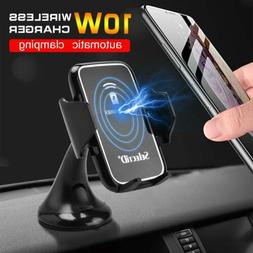 Car Wireless Charger Phone Holder QI Fast Support Auto Phone